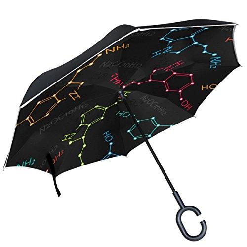ALAZA Paraguas invertido de Doble Capa a Prueba de Viento con fórmula química
