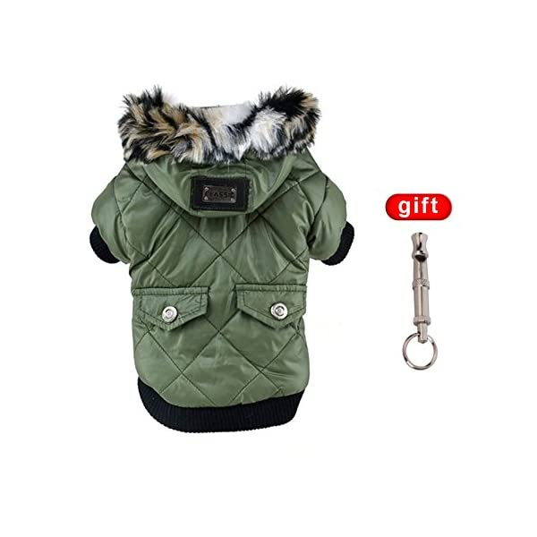 Balai Dog Coats Pet Small Dog Waterproof Warm Coat Cat Puppy Hoodie Thick Jacket Clothes Apparel for Small Breed Dog Like Chihuahua 1