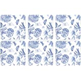 Portmeirion Botanic Blue Coasters, Set of 6