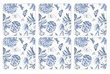 Portmeirion Botanic Blue Sous-verre Bleu Lot de 6