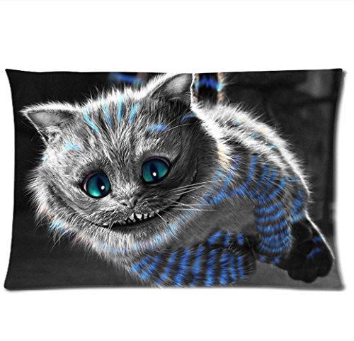 Chesire Cat Pillowcases(Copricuscini e federe) Custom Pillow case(Copricuscini e federe)Cushion Cover 20 X 30 Inch Two Sides