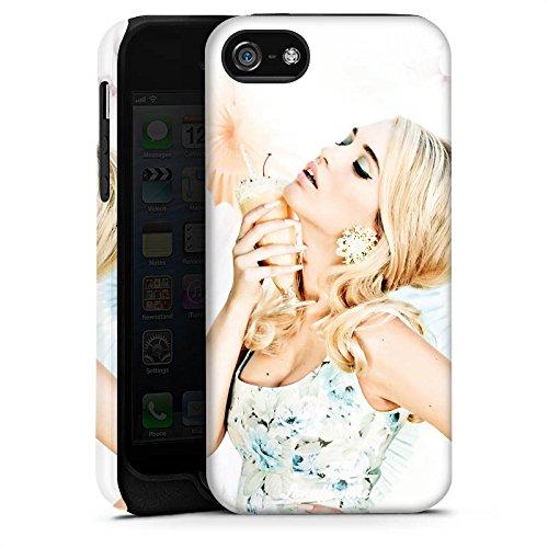 Apple iPhone 5s Housse Étui Protection Coque Lena Hoschek Spring Summer Tendance 2016 Glace Cas Tough terne