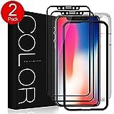 iPhone X Protection Écran Verre Trempé [2 Pièces], G-Color [3D Couverture Complète] Ultra Claire Film [Sans Bulle d'air] [9H Dureté],Anti-rayure Écran Protecteur Vitre pour Apple iPhone X/10