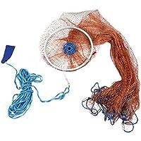 Casinlog Casting Net Reti da Pesca Rete da Pesca Affondatore Lancio Un Mano Pesce Rete Diametro 3.0 M con Platine
