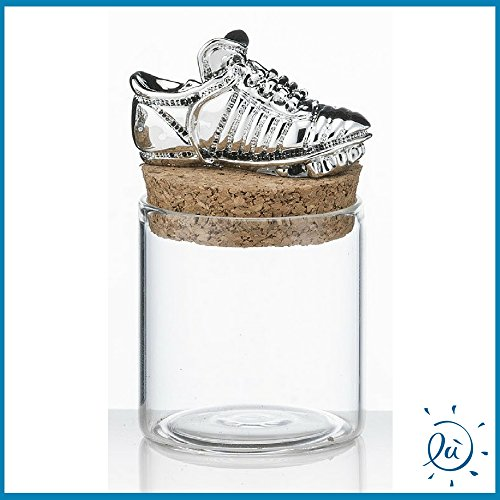 Barattolino portaconfetti scarpa calcio mini (senza scatola) diametro 4.5cm   bomboniere matrimonio comunione cresima originali moderne e utili sposi e accessori bomboniere economiche fai da te