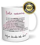OWLBOOK Danksagung Mama große Kaffee-Tasse mit Spruch im Geschenkkarton schöne Geschenkidee Geschenke für Mutti