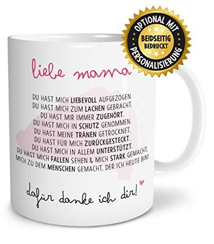 OWLBOOK Danksagung Mama Geschenk Tasse spülmaschinenfest Geschenkidee zum Muttertag Geburtstag Jahrestag Ostern Hochzeit Hochzeitstag für Familie Mutti Mutter