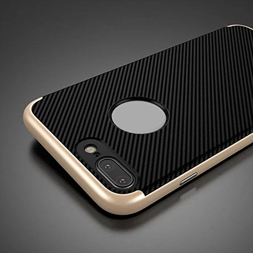 "iPhone 6/6s 4.7 zoll Hülle, Aohro Dünne Schutzhülle [Black TPU Silicone Carbon Design + PC Bumper] Back Cover Case Bumper für Apple iPhone 6/6s 4.7"", Gold Gold"
