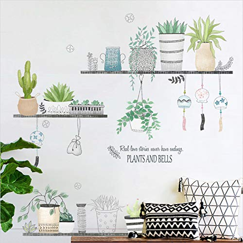 WUOUYKL DIY Kaktus Abnehmbare Wandtattoo Familie Aufkleber Wand Kunst Wohnkultur Wandaufkleber Ausgangsdekor Wohnzimmer Aufkleber Wand