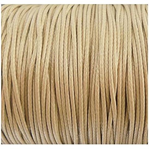 Cavo da 10 m di filo di cotone Macramé, 1 mm, per gioielli, perle, Shamballa-IMITATION cinturino in pelle, colore: