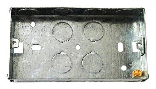 Bulk Hardware BH04063 47 mm 2-Fach Metall-Unterputzdose, Weiß