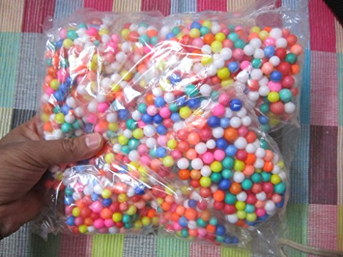 Generic Thermocol Balls Small 10 Packs Mix Color