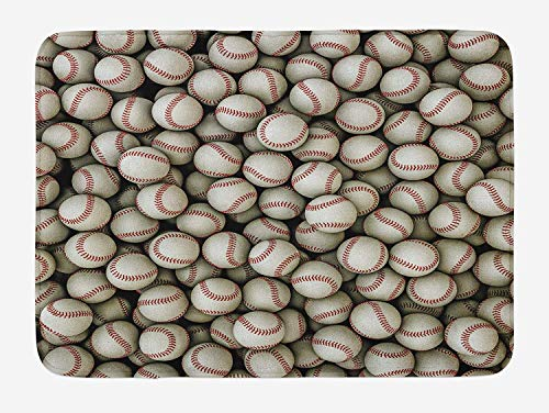 Klotr Felpudos, Sports Bath Mat, Realistic Softballs