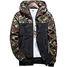 Wenyujh Jungen Jacke Kapuzenjacke Übergangsjacke Frühling Herbst Mode Camouflage Muster Casual