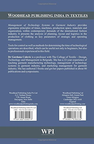 Management Of Technology Systems In Garment Industry (Woodhead Publishing India in Textiles)
