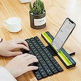 Leegoal - Tastiera BT portatile pieghevole senza fili, multi-dispositivo, per tutti i modelli di iPhone, Windows, iOS, Mac, tablet Android, smartphone, e così via Nero