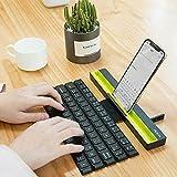 leegoal Wireless Tastiera Pieghevole, Full-Size Multi-Dispositivo Scroll-Type Tastiera Bluetooth Portatile per Tutti i Modelli iPhone/Windows/iOS/Mac/Android Tablet/Smartphone, ECC.
