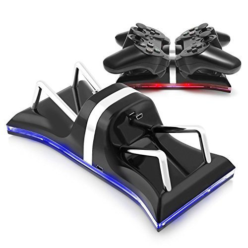 Preisvergleich Produktbild ECHTPower Dualshock 3 Ladestation Standfuß Ladegerät mit LED Indikator für Sony Playstation PS3 / PS 3 Slim Gamepad Controller