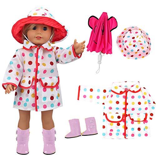 vamei Manteau de Pluie de vêtements de poupée DE 18 Pouces...