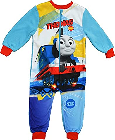 Boys Thomas and Friends Thomas Tank Engine Fleece Onesie Size