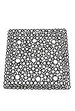 Decoshop Tischplatte aus Metall umgeben schwarz