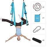 ENKEEO Yoga Hängematte Yoga Set Anti-Gravity-Schwingen Hängematte Aerial Yoga Tuch