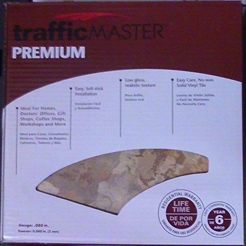 TrafficMaster Beige Slate 12 in. x 12 in. Solid Vinyl Tile (30 sq. ft./case) by Trafficmaster (Solid Slate)