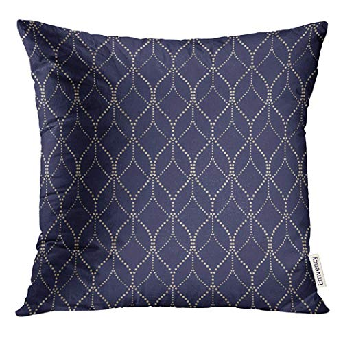Throw Pillow Cover Gray Luxury Abstract Geometric Pattern with The Points Gold and Black Blue Stylish Graphic Dotty Decorative Pillow Case Home Decor Square 18x18 Inches Pillowcase (Throw-kissen Fahne)