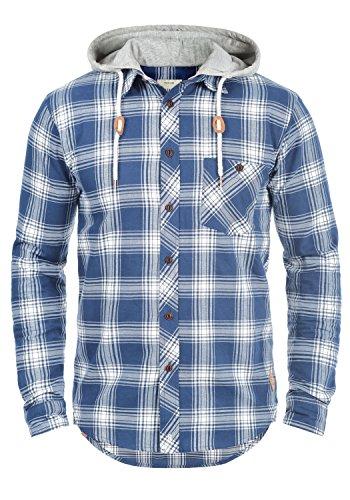 Redefined rebel meier - camicia die flanella da uomo, taglia:m;colore:true navy