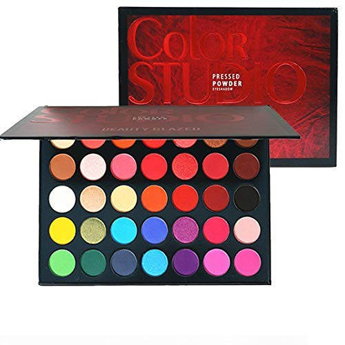 Beauty Glazed Lidschatten Palette Makeup Palette, 35 Farben Matt & Schimmer Stark Pigmentierte Lidschatten