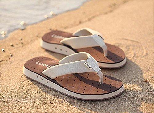 ALUK- Sommer Sandalen - Casual Anti-Rutsch Männer bequeme Verschleiß-resistenten Hausschuhe Strand Schuhe ( Farbe : Braun , größe : 41 ) Braun