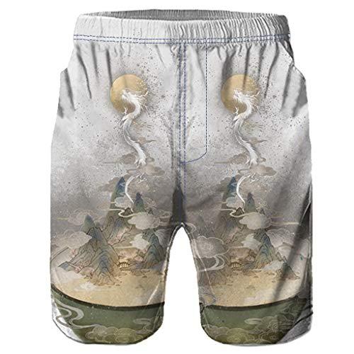 Cooljun Mens Abnehmen Body Shaper Weste Shirt Männer Casual 3D Graffiti Gedruckt Strand Arbeit Casual Männer Kurze Hosen Shorts Hosen -