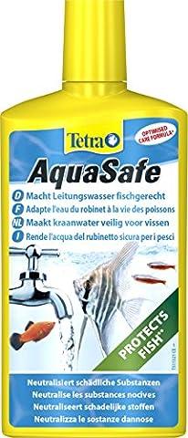Tetra AquaSafe (Qualitäts-Wasseraufbereiter für fischgerechtes und naturnahes Aquariumwasser, neutralisiert fischschädliche Stoffe im Leitungswasser), 500 ml (Neutralizza Metalli Pesanti)