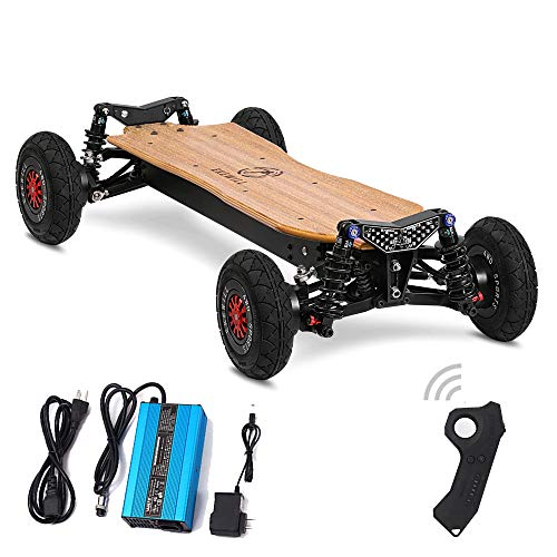 "EKEWILL Electric Skateboard Off-Road Tire 7.9""*2.0\"" Samsung 30q/18650 Lithium Battery, Battery Life 35km, Top Speed 55km, 42.5 * 18.1 * 8.3in,900WH/fourdrive"