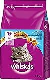 Whiskas Katzenfutter Trockenfutter Adult für Katzen ab 1 Jahr