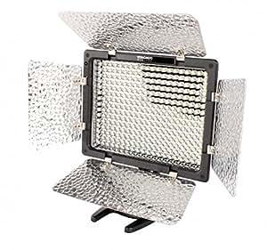 Yongnuo YN-300 II Profi Videolicht Kameralicht mit 300 LED - 2280 lumen für Videokamera, Camcorder oder Digitalkameras SLR DSLR - Lichtfarbe einstellbar 3.200K - 5.500K. Lieferung inkl. Standfuß, Fernbedienung + Akkus und Ladegerät
