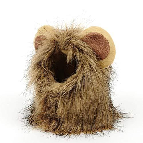 SOOKi Lion Ears Perücke, Katzen große Fantasy Kostüm, realistisch, lustig, niedlichen Kopfschmuck, entzückendes Geschenk für Tierliebhaber,L