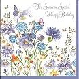 Birthday Card Blue Allium And Butterflies Birthday Card By Pizazz New