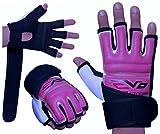 EVO - Damen Handschuhe aus REX Leder/Gel für MMA, Boxen, Sandsack, Kampfsport, Kara