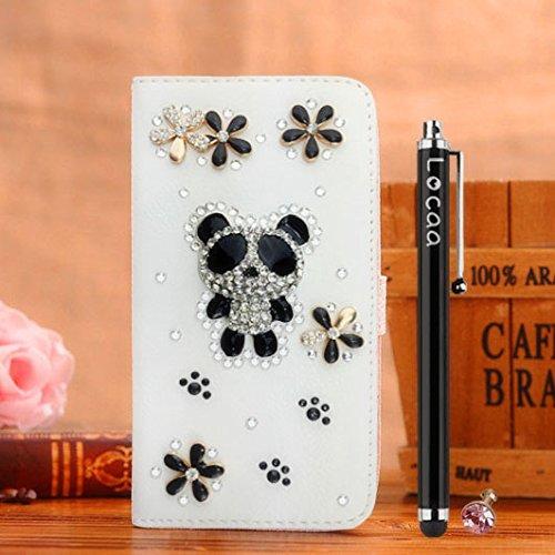 """Locaa(TM) For Apple IPhone6S IPhone 6S 4.7"""" 3D Bling Case + Gifts Beau Belle qualité Cover Shell Bumper téléphone Housse haute Étui Cas Protection Cuir fille Mode étuis Couverture - [Série Générale] R Panda mignon 2"""