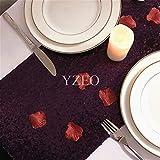 "yzeo 12""X 108Camino De Mesa De Lentejuelas para boda, materiales sintéticos, Morado, 12x108-Inch"