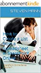 How to Create a List from a Spreadshe...