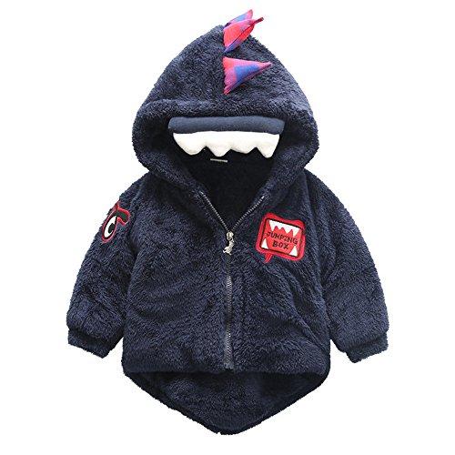 Barbarer Baby-Säuglings-Mädchen-Jungen-Dinosaurier-mit Kapuze Mantel-Mantel-Jacke-starke warme Kleidung (100, Dunkelblau) (Kostüm Partei Ideen Für Teenager Mädchen)