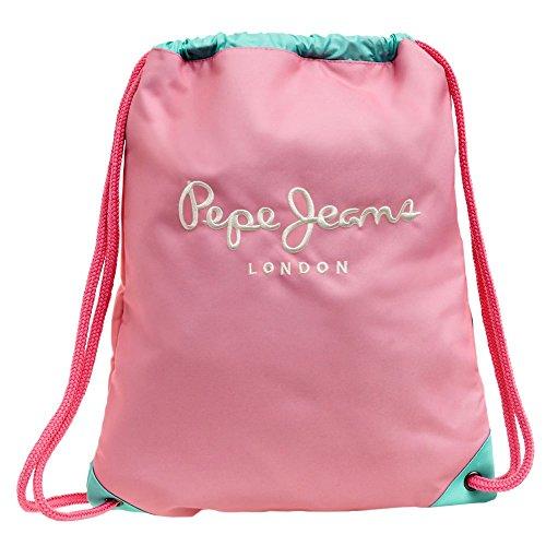 Pepe Jeans Bicolor Mochila Tipo Casual, 0.67 Litros, Color Rosa
