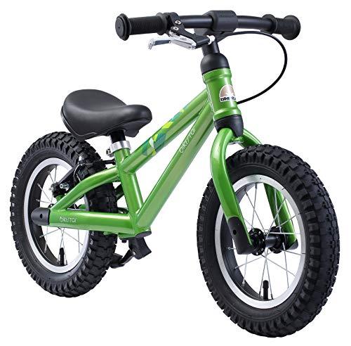 BIKESTAR Mountain Kinderlaufrad Lauflernrad Kinderrad für Jungen und Mädchen ab 3 - 4 Jahre ★ 12 Zoll Kinder Laufrad Mountainbike ★ Grün