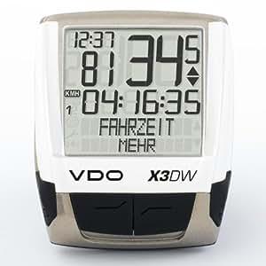 VDO X3 DW Funk Fahrradcomputer + Trittfrequenzmesser kabellos