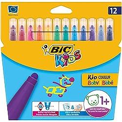 BIC Kids - Pack de 12 rotuladores infantiles para colorear