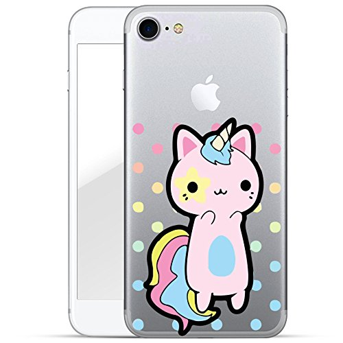 finoo | iPhone 6 Plus / 6S Plus Hard Case Handy-Hülle mit Motiv | dünne stoßfeste Schutz-Cover Tasche in Premium Qualität | Premium Case für Dein Smartphone| Einhorn flauschig Einhorn Katze