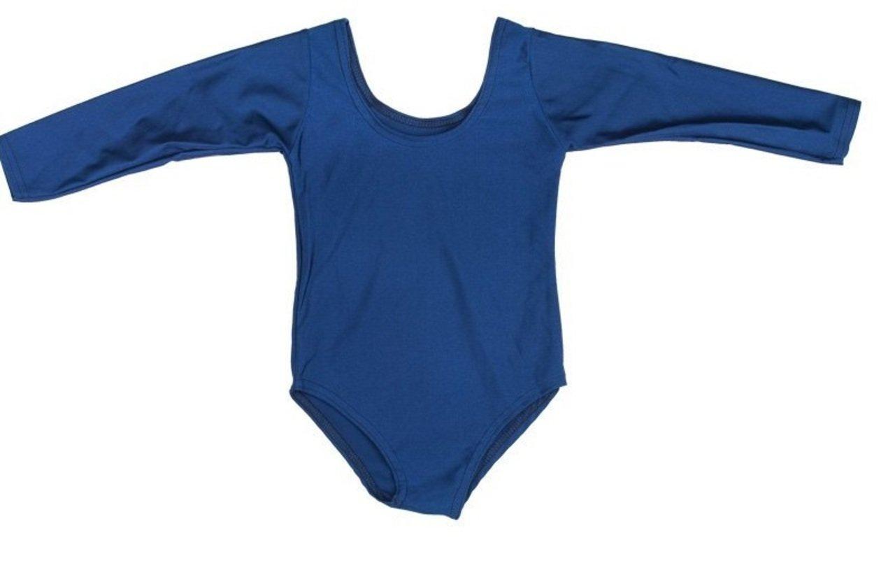 ONLYuniform - Body per la scuola / la ginnastica / la danza, in lycra, Blu (Blu navy), 3-4 anni