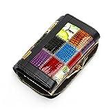 Portafogli In Pelle Genuina Donna Coin Pocket Femmina Frizione Viaggio Portafoglio di Kangrunmy (Nero)